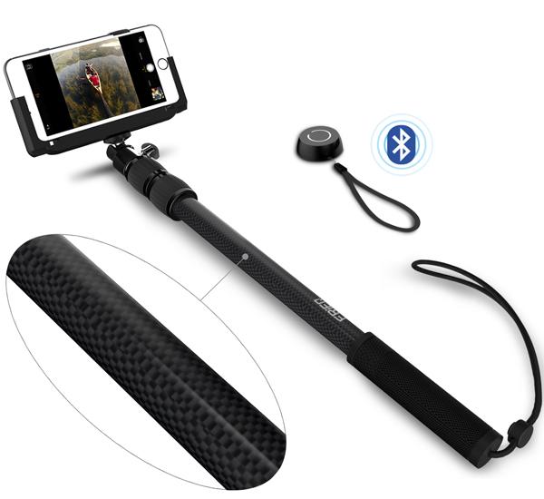 frieq light carbon fiber pro 3 in 1 self portrait monopod extendable wireless bluetooth selfie. Black Bedroom Furniture Sets. Home Design Ideas