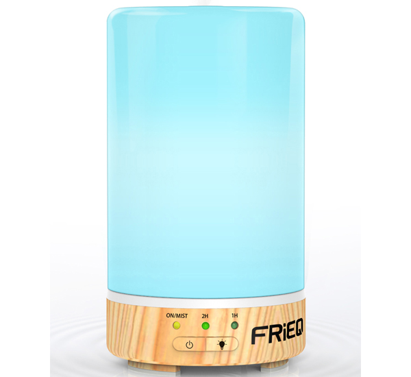 FRiEQ Essential Oil Diffuser – Best Essential Oil Diffuser with Four-In-One Versatility and   Seven LED Light Choices – Works Great as a Fragrance Lamp, Air Purifier, Humidifier, or   Nightlight