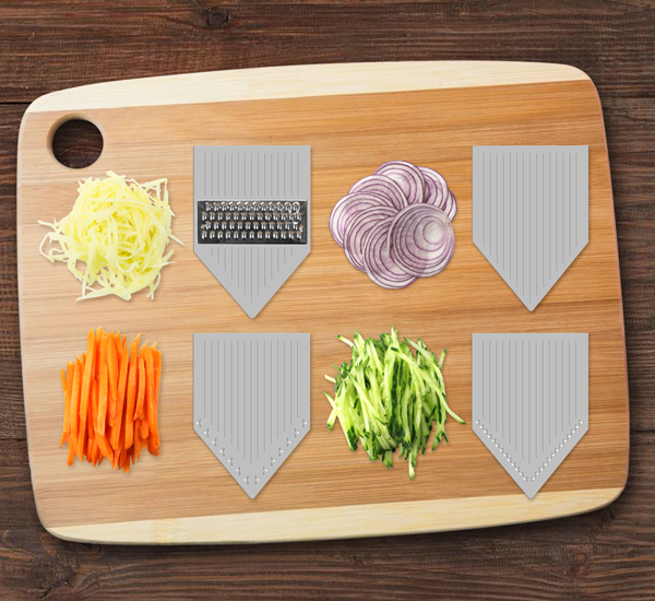 ZERLA Adjustable Mandoline Slicer, Grater & Julienne Slicer