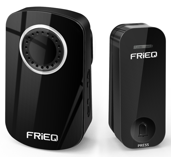 FRiEQ Portable Waterproof Wireless Doorbell(No batteries or wires required) - Eco Self-power   Plug-in Cordless Door Chime Design with 32 Melodies and 4 volume choices,150m Range - High   Quality