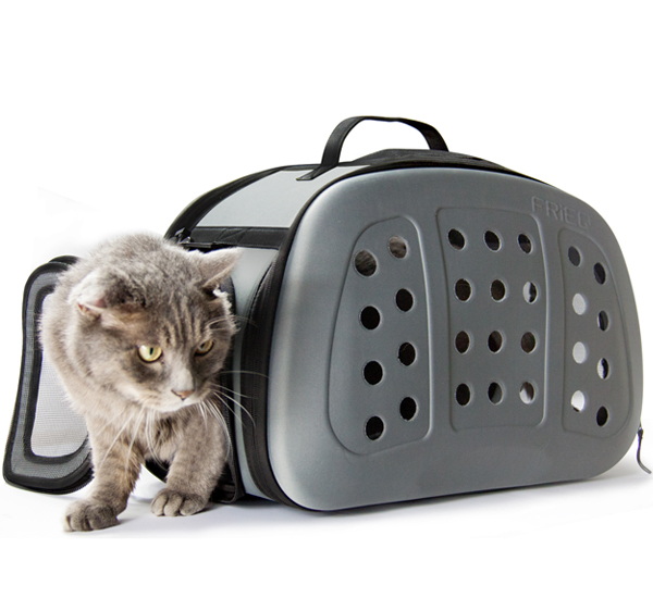 FRiEQ Foldable Hard Cover Pet Carrier Shoulder Strap - Pet Travel Kennel Cats, Small Dogs &   Rabbits